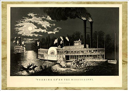 """Wooding Up on the Mississippi"" (Published c1863) A4 Glos... https://www.amazon.co.uk/dp/B07BN6H88P/ref=cm_sw_r_pi_dp_x_ElkTAb345CA65"
