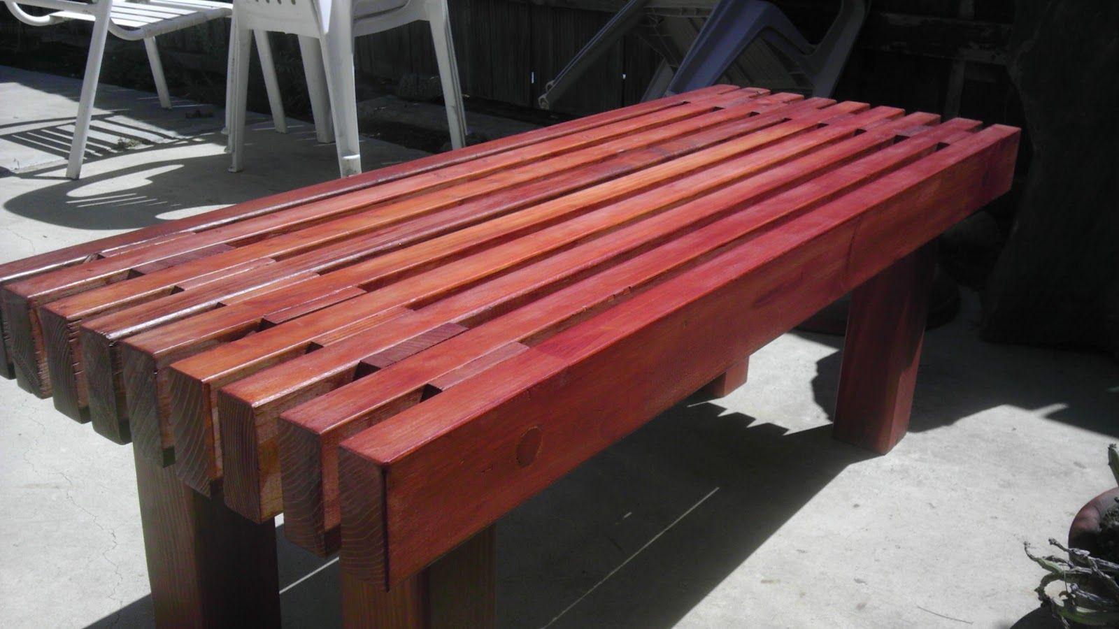 DIY Redwood Garden Bench Wooden bench outdoor, Diy bench