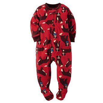 ffeb0fd93 Amazon.com  Carter s Baby Boys 1 Pc Fleece Footed Pajamas  Clothing ...