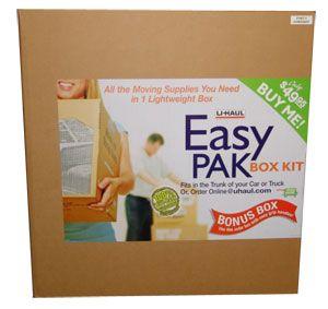 Easy Pak Box Kit Moving Supplies Moving Kit Moving Help