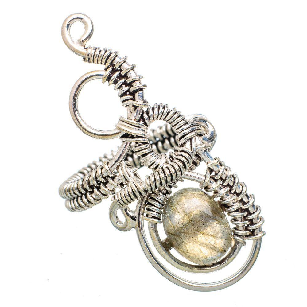 Labradorite 925 Sterling Silver Ring Size 7 RING783347