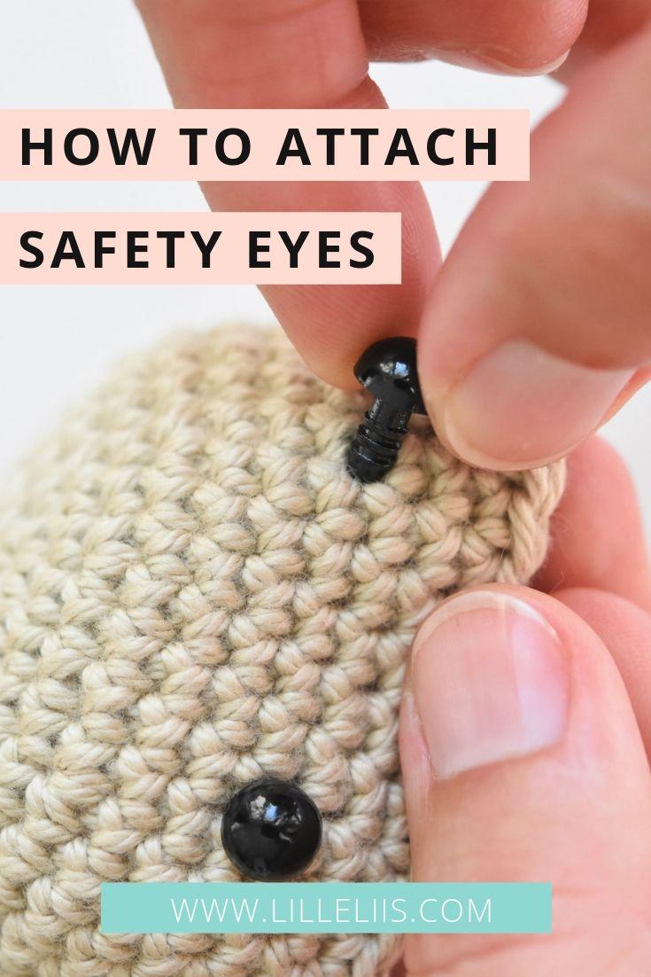 Safety eyes for amigurumi toys #amigurumitutorial