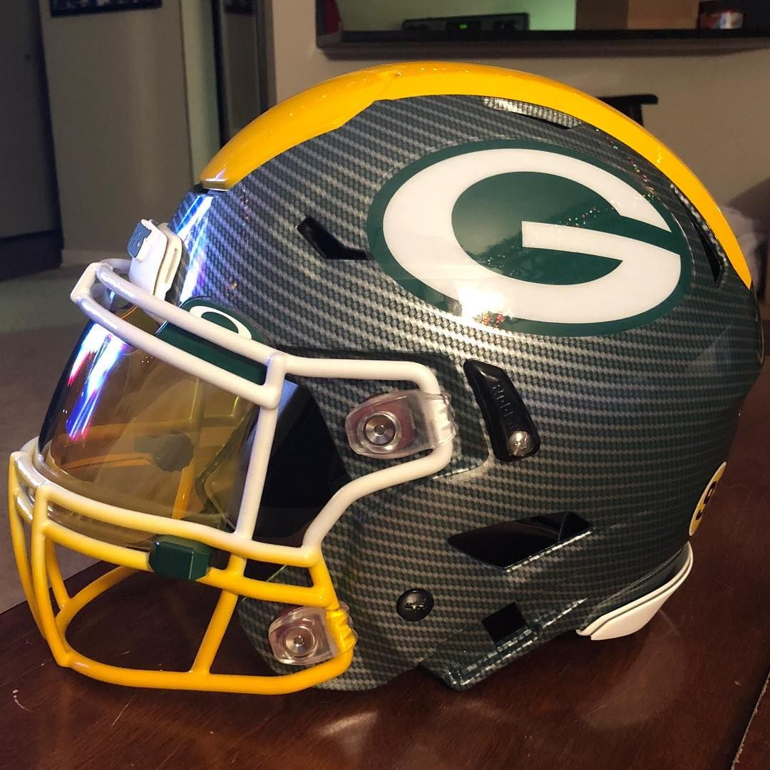 2938cac6e1b Green Bay Packers authentic Riddell Speed Flex custom hydro dipped helmet  with tons of extras! - Faded facemask. - Front back 3D Bumpers. -…