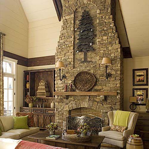 I Like The Indentation Decorating Pinterest Stone Fireplaces
