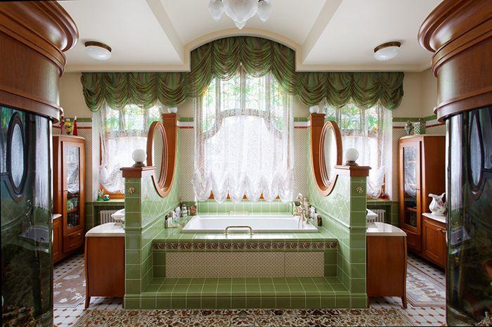 Modernes Badezimmerdesign Art Nouveau Badezimmer Tile Tapeten Bathroom Vintage Dusche Fl Art Deco Badezimmer Jugendstil Design Modernes Badezimmerdesign
