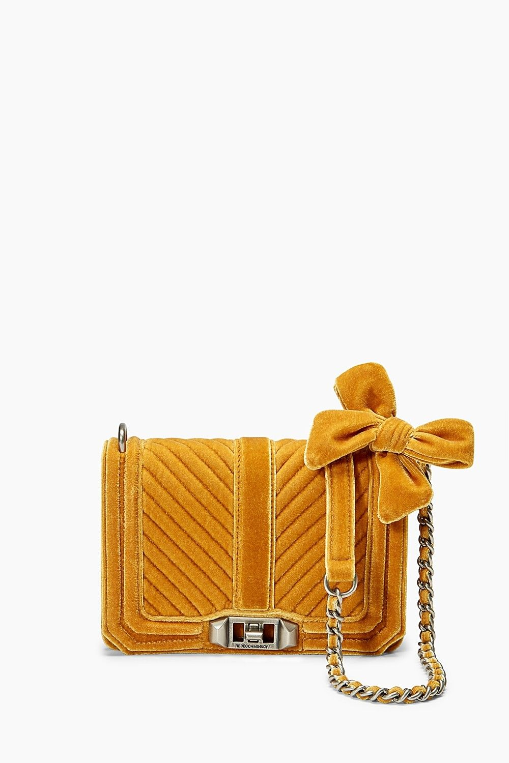 Velvet Chevron Quilted Small Love Crossbody  - Style #: XH17FVLX45