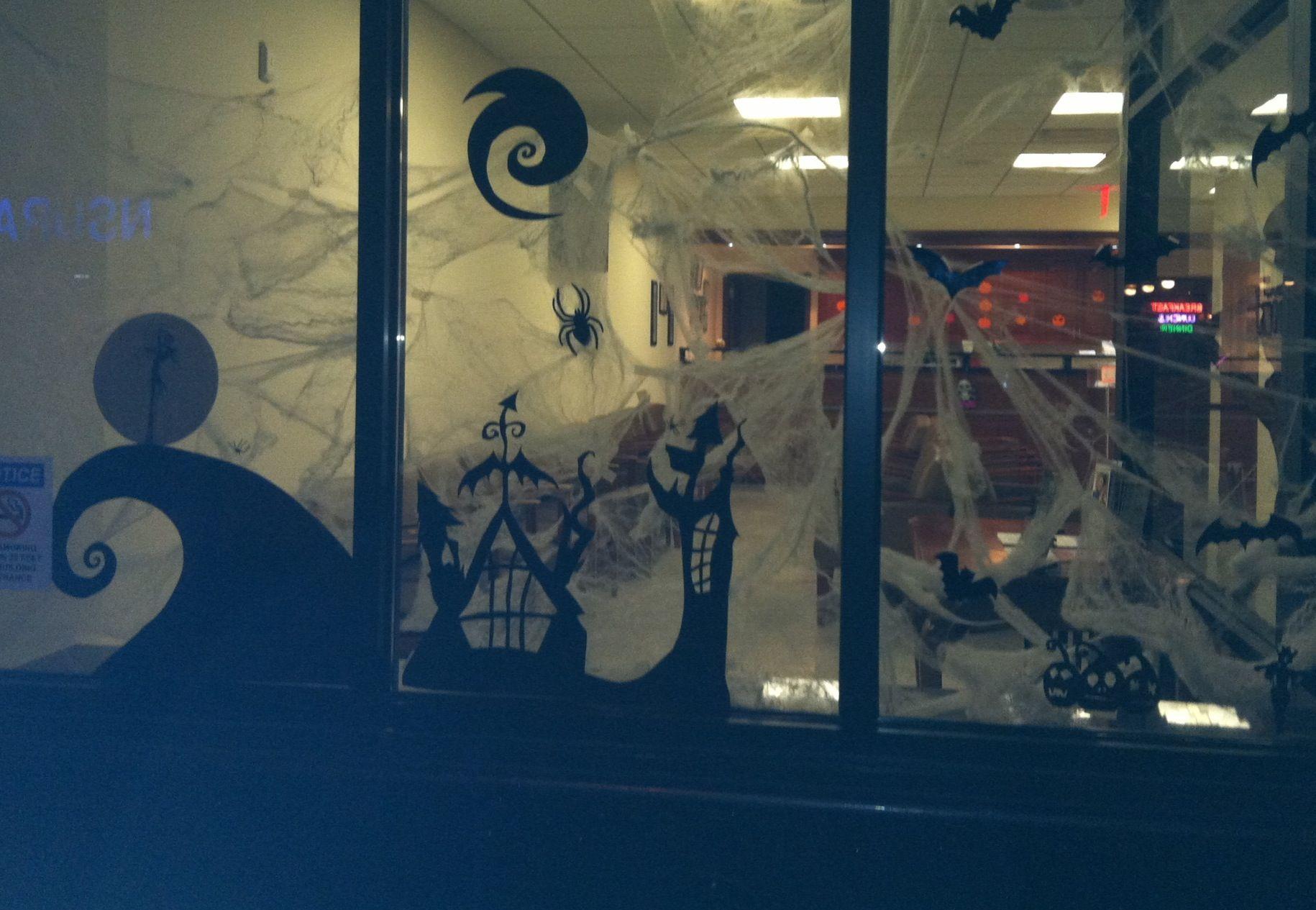 Nightmare before Xmas Halloween decoration in the window ...