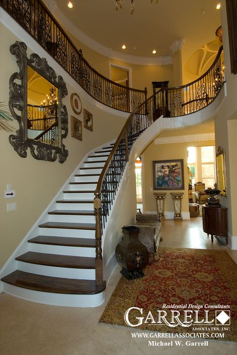 Garrell associates inc casa de caserta house plan 07194 2 story foyer design by michael w - Interior designer caserta ...