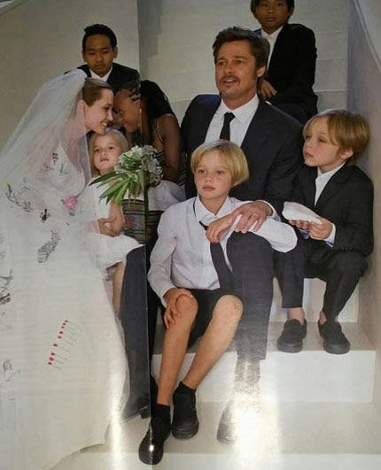 Angelina Jolie Brad Pitt Constance Zahn Casamentos