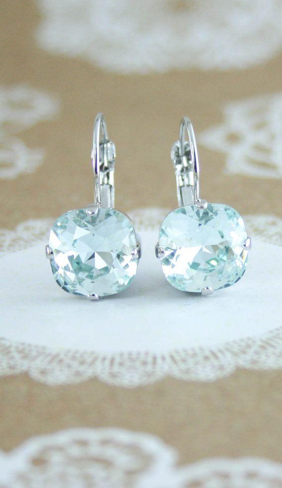 c241b7ac39969a Ice blue crystal earrings