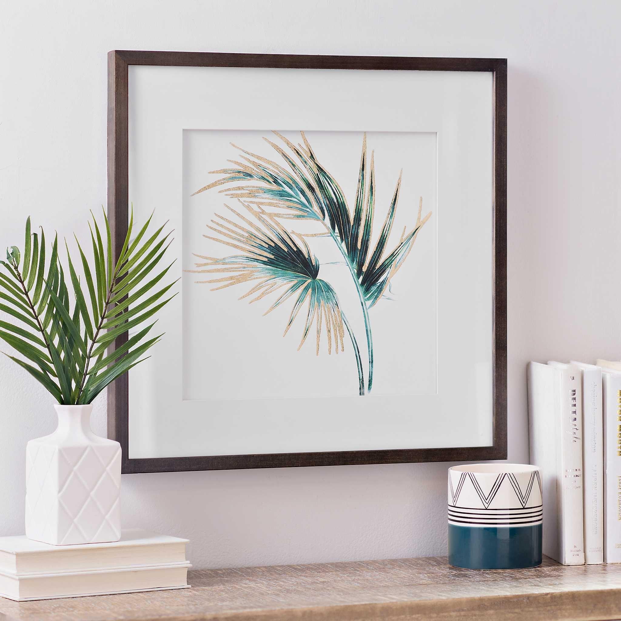 Gold Foil Palm Leaf Framed Art Print - Kirklands