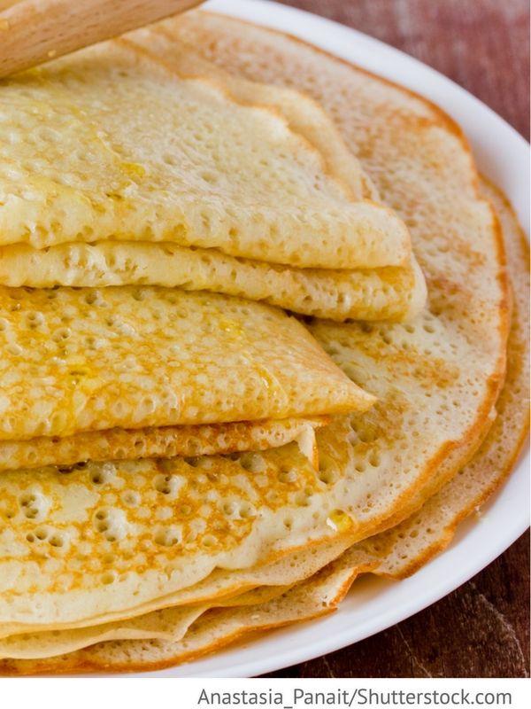 Weizenpfannkuchen Blini pschenitschnye - Блины пшеничные - Russische Rezepte