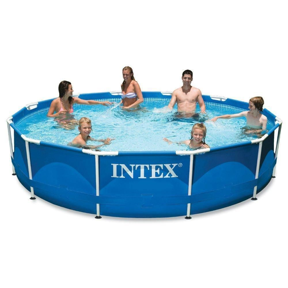 details about intex 12ft x 30in metal frame swimming pool backyard