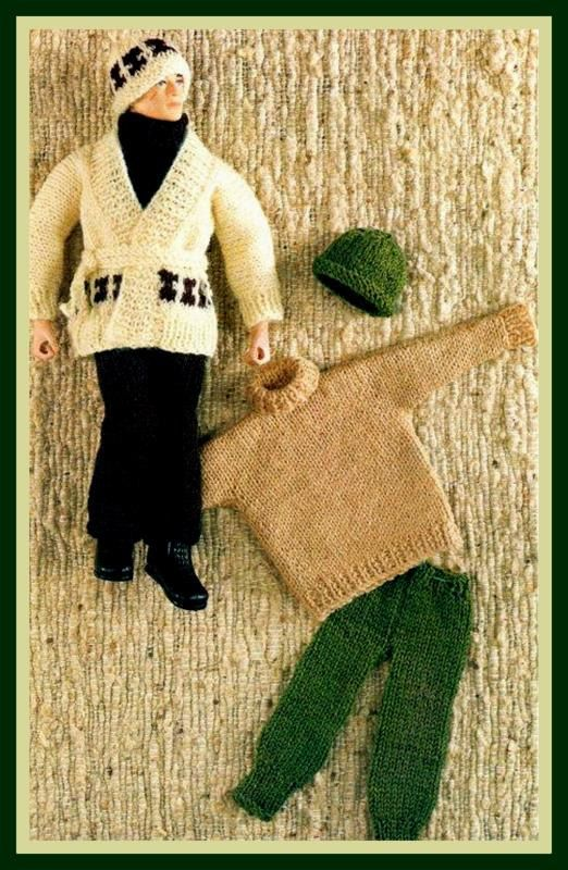 Pdf Knitting Pattern For Action Man Ken Etc Casual Clothes Inc A