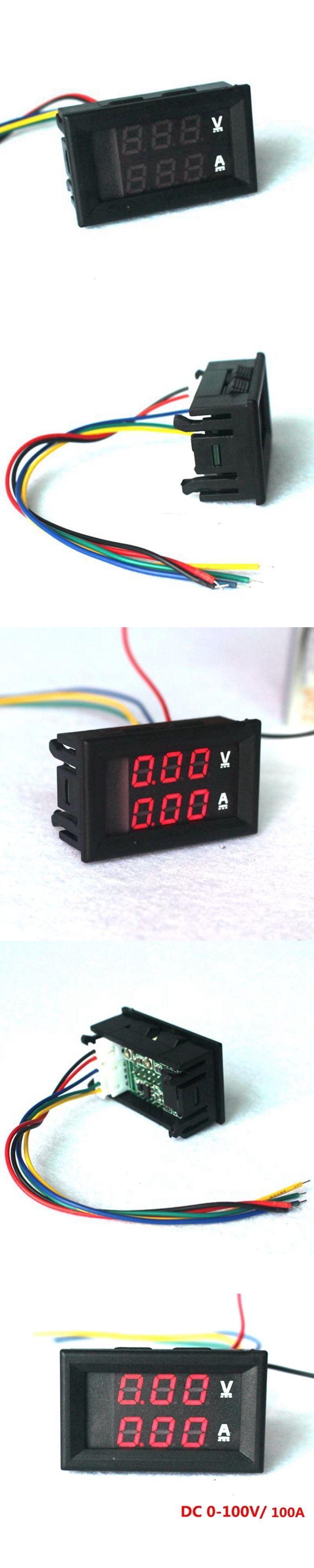 Led Digital Dc Voltmeter Ammeter 0 100v 100a Motorcycle Battery Monitor Volt Amp Meter