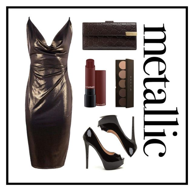 """""""Metallic"""" by nevaehkern ❤ liked on Polyvore featuring Boohoo, Gucci, autumn, contestentry, fashionset and falltrend"""