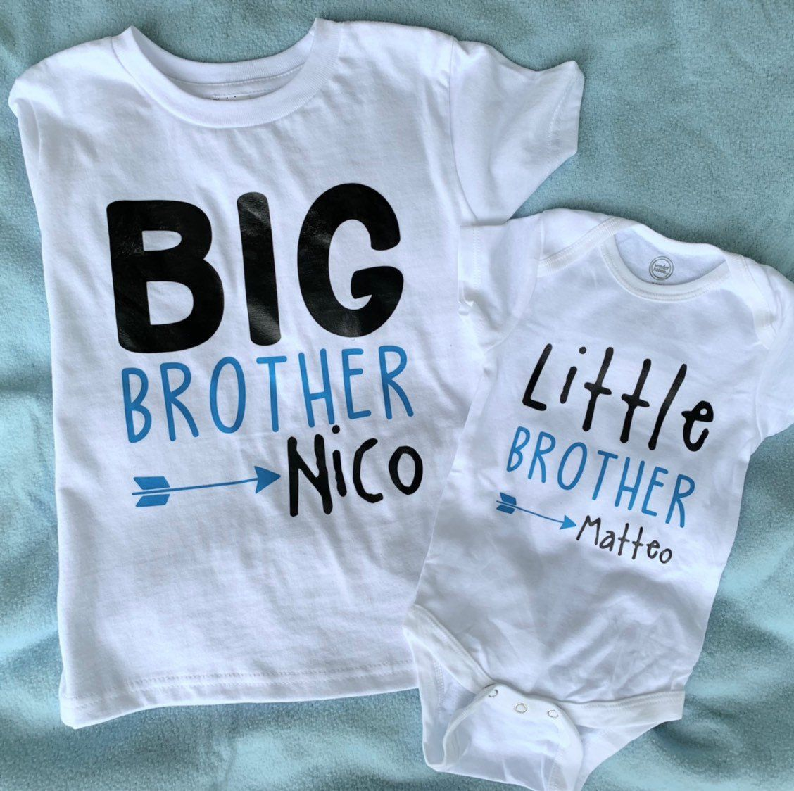 Big Brother Shirt Funny Baby Onesie Little Brother Onesie Big Brother Little Brother Did We Just Become Best Friends set