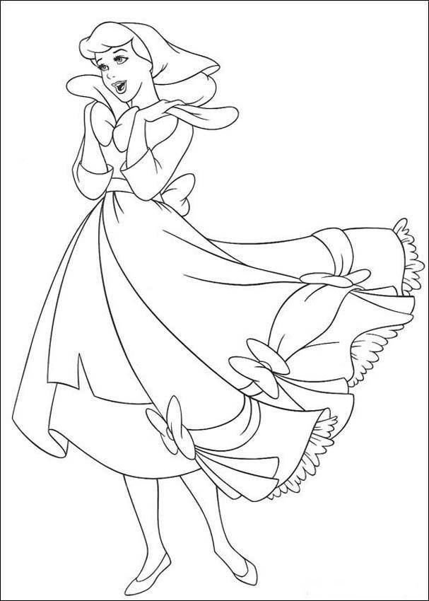 Cinderella Ausmalbilder Kostenlos Drucken Disney Prinzessinnen