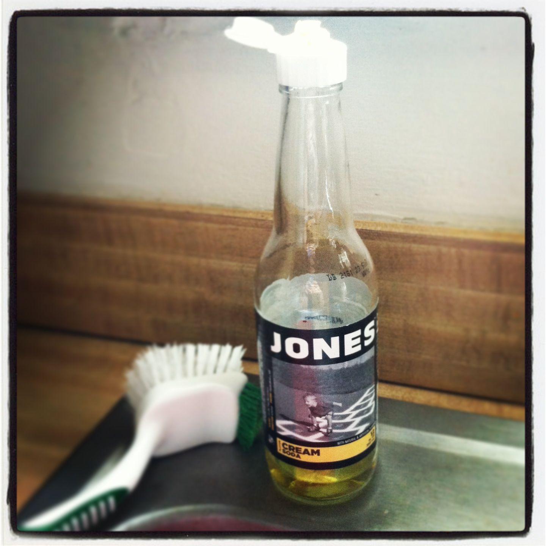 Soda bottle soap dispenser  This cream soda bottle worked