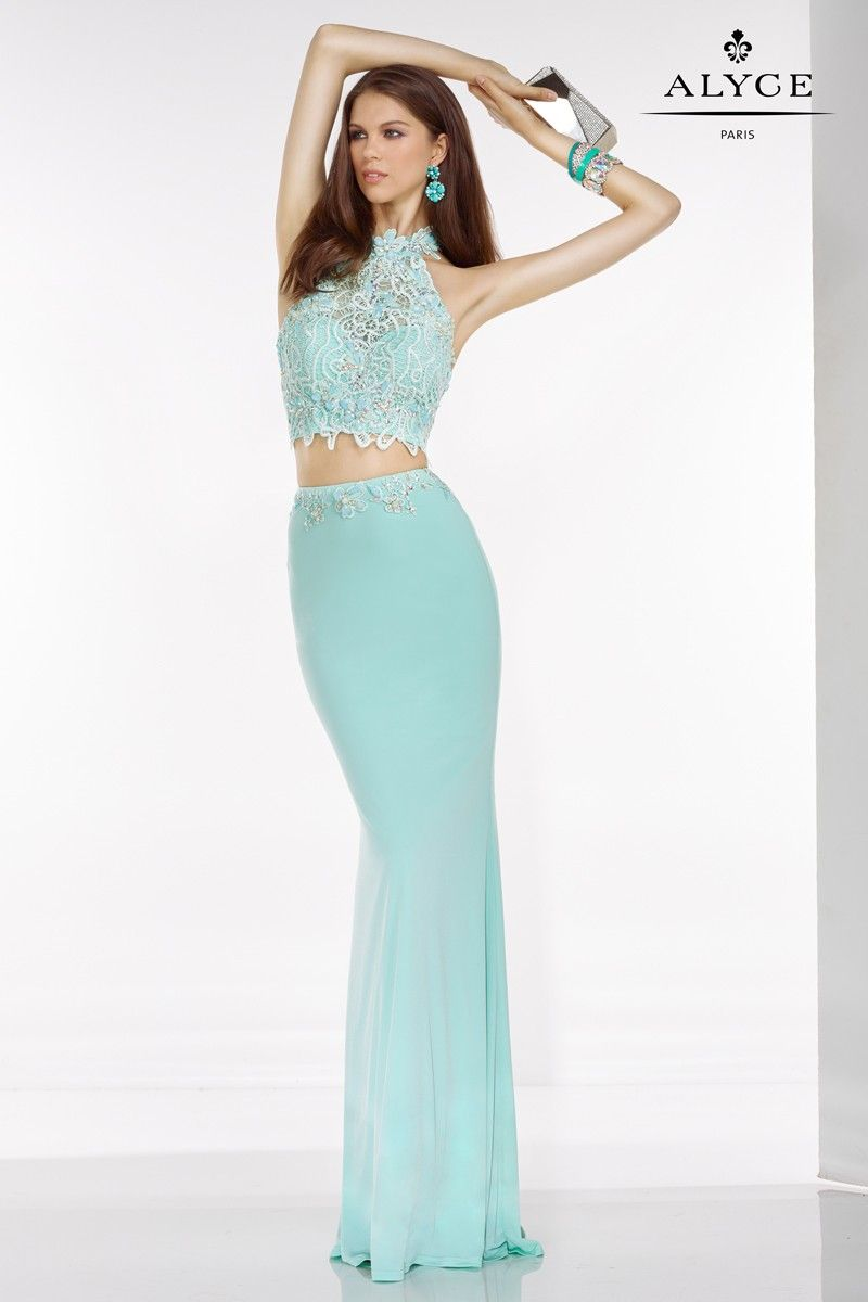 You will love this two piece lace halter top with back cutouts and ...