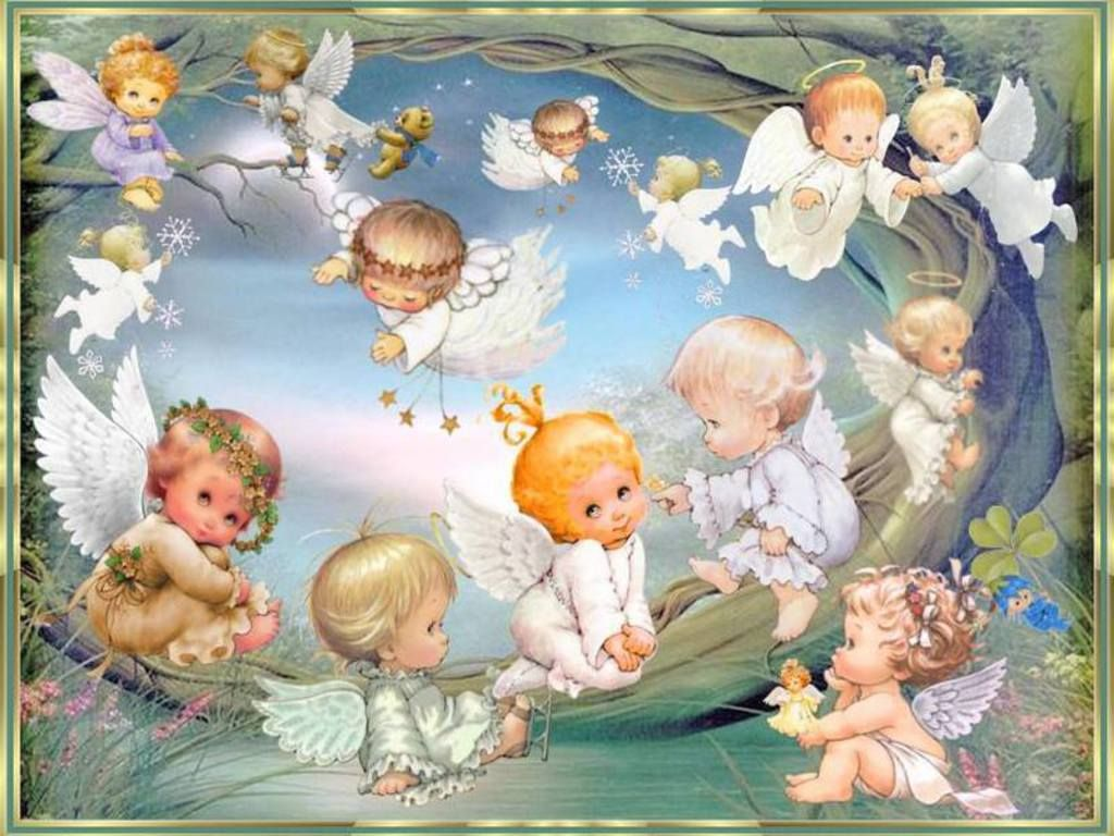 Cute Baby Angels Wallpaper Android Engel, Feeën, Elfen