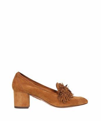 Sale Buy Brown Wild Suede Loafers Aquazzura Lowest Price For Sale Cheap Sale Top Quality Online Shop New Online LJu7J