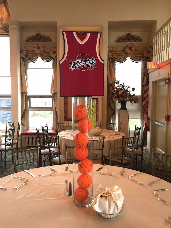 The Cavaliers Basketball Themed Centerpiece For A Multi