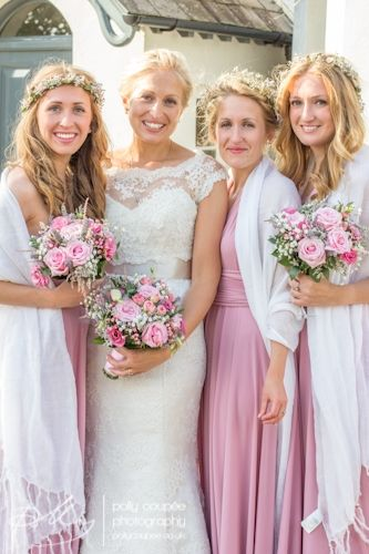 Wedding Photography Rose pink wedding   suzanne neville dress   Bride & Bridesmaids