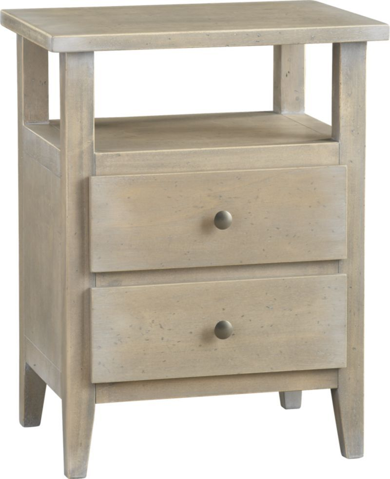 Crate barrel sorano 2 drawer nightstand our - Crate barrel bedroom furniture ...