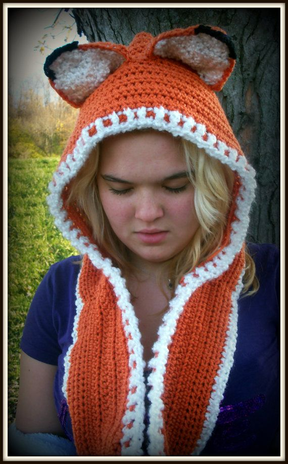 Fox Scoodie Hooded Fox Hat and Cowl by TangledYarnCreation, $38.45 ...