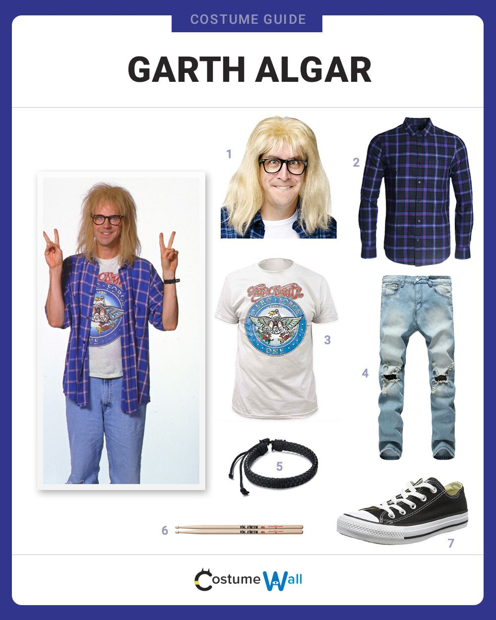 Fun World SNL Garth Algar Wig