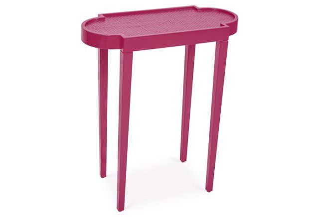 Tini II Side Table, Raspberry/Natural | Color Pop | Pinterest ...
