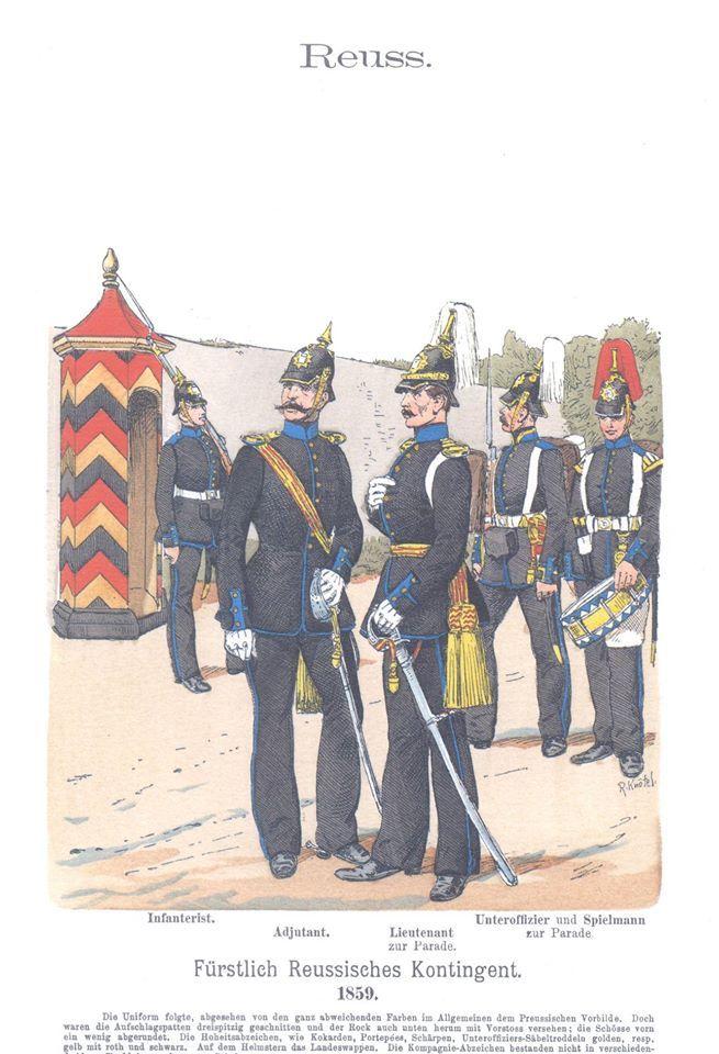 Band IX #10.- Reuss. Fürstlich Reussisches Kontingent. 1859.