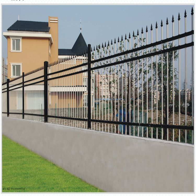 Black And White Metal Fence Aluminum Fence Fence Metal Fence
