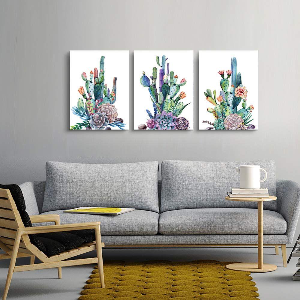 Canvas Art Simple Life Green Cactus