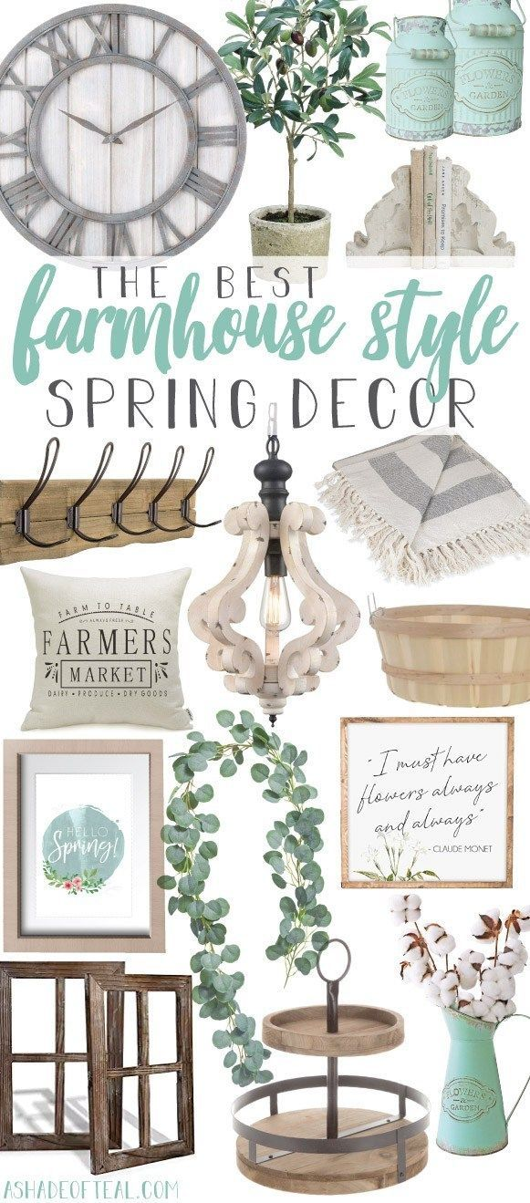 Photo of The Best Farmhouse Style Spring Decor. Ready to update for Spring? Then come sho…