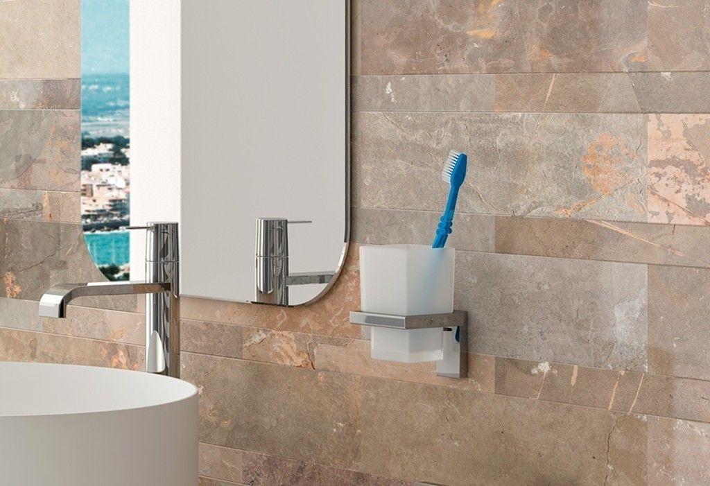 #Portavasos de la colección MIA de #BañoDiseño - #Accesorios de #baño: #decoración #moderno #bañosmodernos