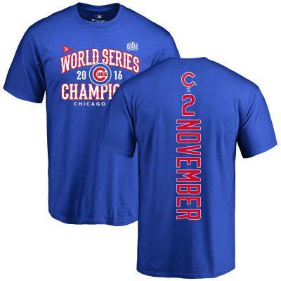 MLB CHICAGO CUBS TEE SHIRT 2016 World Series Champions V-Design Tie-Dye T-Shirt