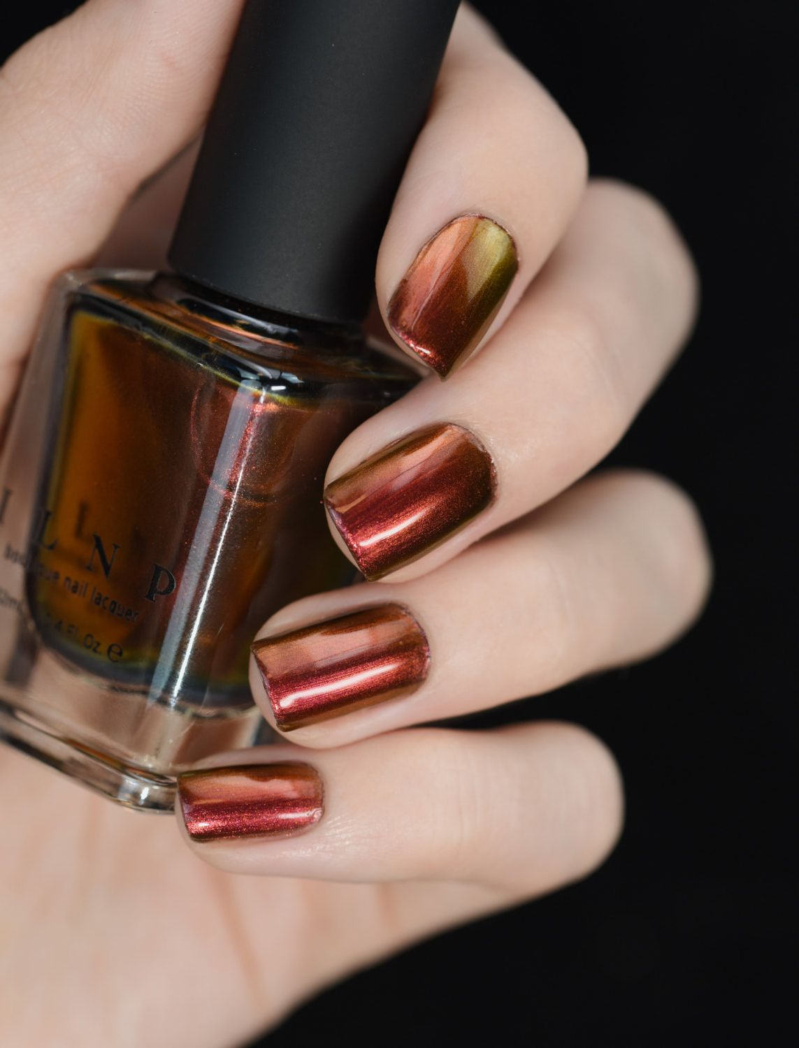 Red, Orange, Copper, Gold, Chartreuse Ultra Chrome Nail Polish ...