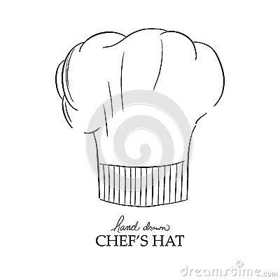 chefs hat vector illustration hand drawn chef uniform in