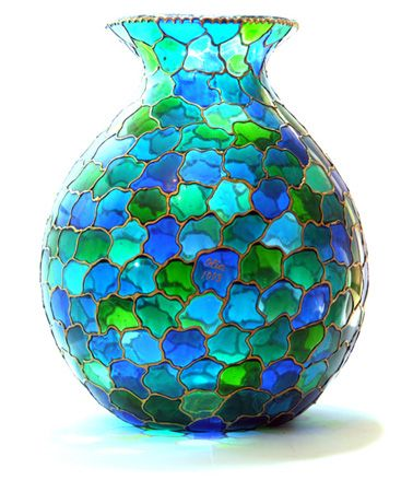 """Stained Glass"" Vase"