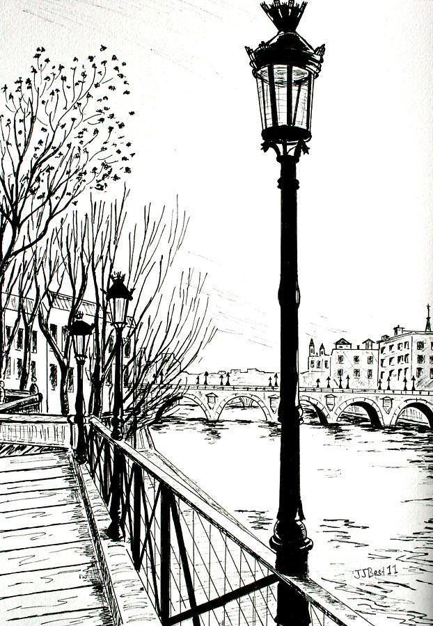 Street lamps in Paris by Janice Best