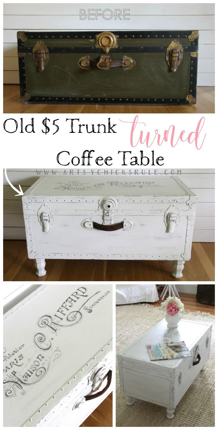 5 Old Trunk Coffee Table A Thrifty Makeover Diy