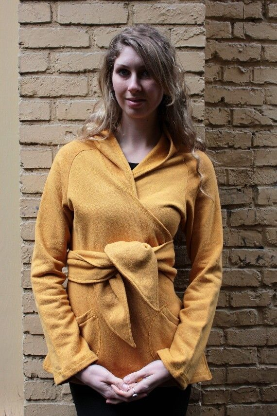 Be Cozy Hemp Organic Cotton Wrap Sweater Hoodie by Salts on Etsy ...