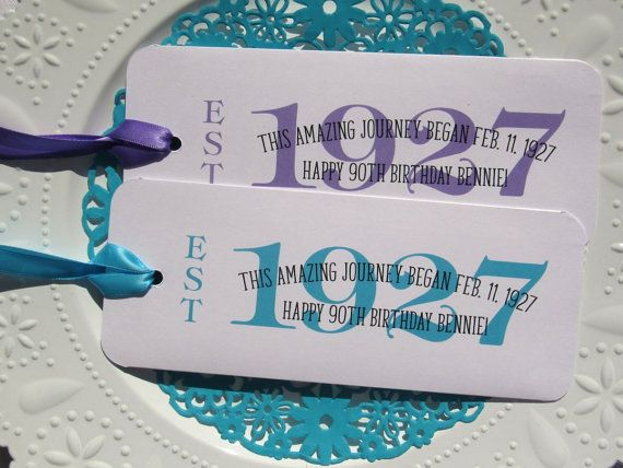 90th Birthday Ideas Party Favors Adult By Abbey And Izzie Designs