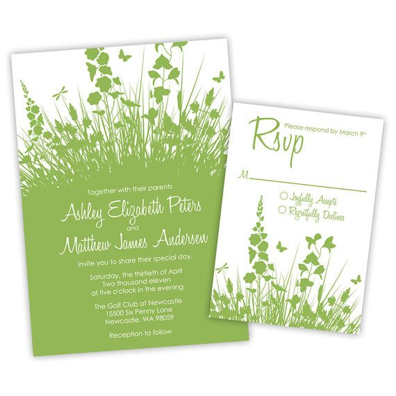 Secret Garden Wedding Invitations by ImpressInk on Etsy 5000