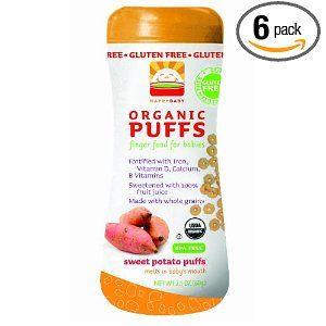 HAPPYBABY Organic Puffs, Sweet Potato, 2.1-Ounce ...