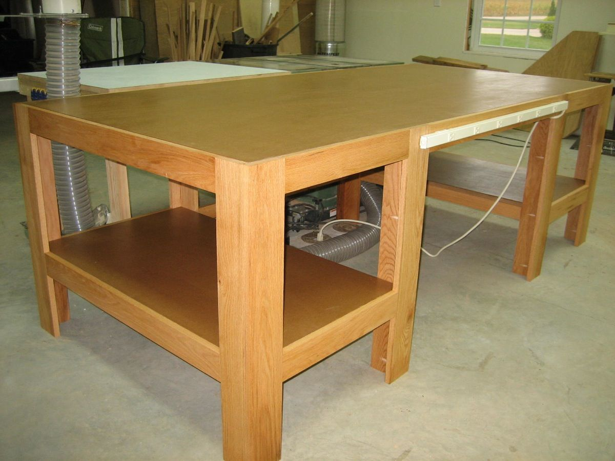 Woodworking Table Ideas Woodshop Ideas Am In The Process Of Setting Up An