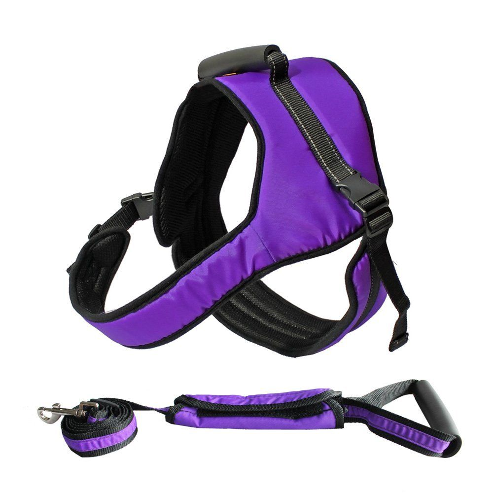 Dog Harness No Pull Heavy Duty Reflective Easy Walk Jump Hiking Running Training Unbreakable Soft Handle Lift Aid Adjustable Outdoor For Large Breed D