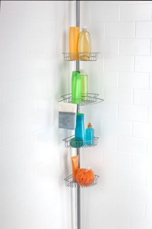 Jumbo Shower Caddy (Chrome) | Clutter, Ceilings and Corner
